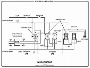 Homelite Bm907000b Generator Mfg  No  090930265 Parts Diagram For Wiring Diagram