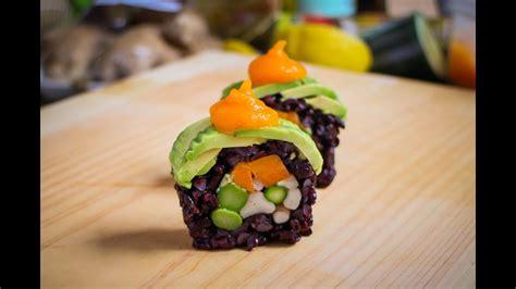 vegan sushi roll recipe amazing vegan food recipe youtube