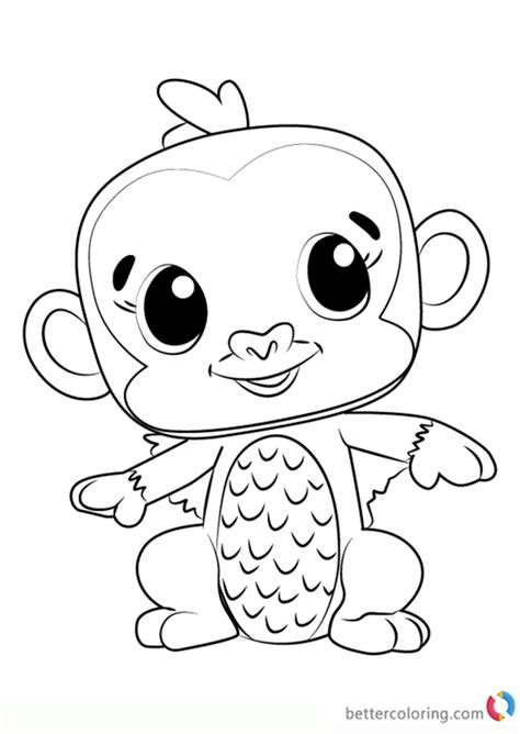 monkiwi  hatchimals coloring pages  printable