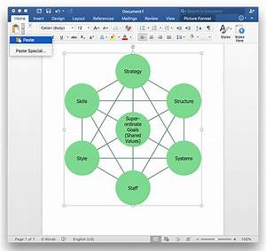 How To Add A Bubble Diagram To A Ms Word Document Using