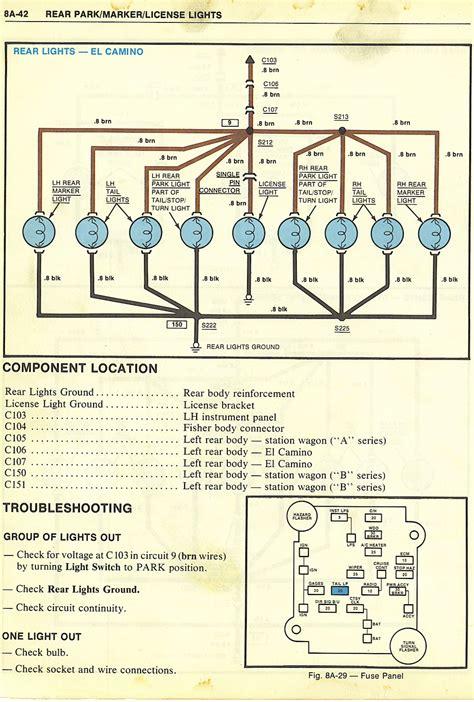 1965 Chevy El Camino Wiring Diagram by 1985 Chevy El Camino Wiring Diagram Wiring Library