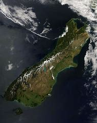 South Island New Zealand Satellite