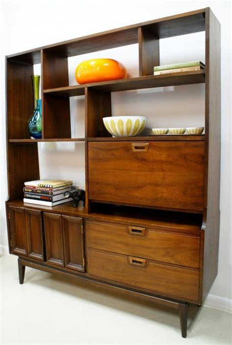 mid century wall unit 29 awesome and functional mid century wall units digsdigs