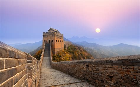 Great Wall Of China Sunrise Wallpapers  Hd Wallpapers