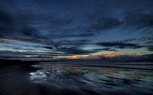 Dark, Sky, And, Sea, Wallpaper, Background