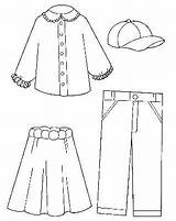 Dresses Coloring Pages Clothes sketch template