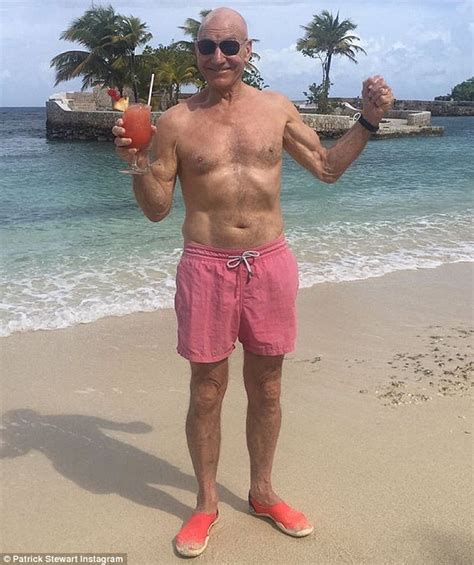 patrick stewart how old patrick stewart poses shirtless to celebrate golden globe