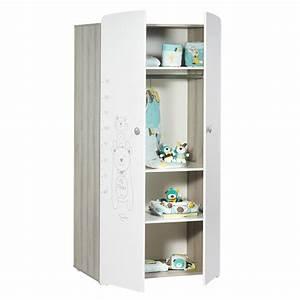 Armoire De Bébé : armoire chambre b b 2 portes teddy de baby price sur allob b ~ Melissatoandfro.com Idées de Décoration