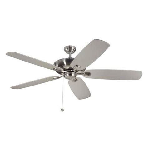 monte carlo colony ceiling fan light kit brushed steel ceiling fan bellacor