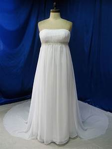 plus size wedding dress in chiffon empire by With chiffon plus size wedding dress