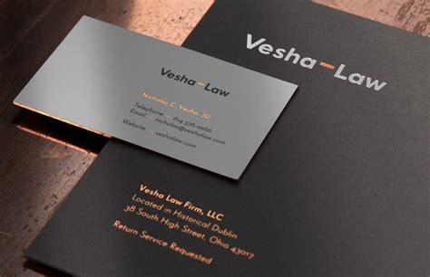 exquisite branding design  lawyer vesha designbolts