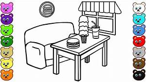 Fast Food Restaurant Coloring Pages - YouTube