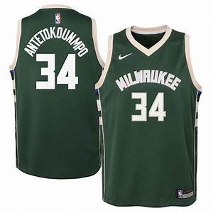 Giannis Antetokounmpo Milwaukee Bucks Nba Nike Icon Youth