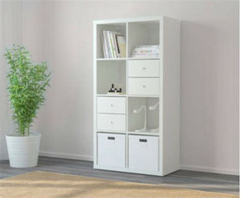 Ikea Cupboard Shelves by Ikea Kallax 2x4 Shelves Bookcase With Drawers And Cupboard