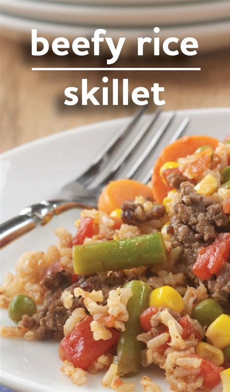 These recipes are easy to double for a larger crowd. Beefy Rice Skillet | Recipe | Beef recipes for dinner ...