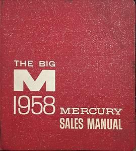 1958 Mercury Cd Repair Shop Manual W  Merc C