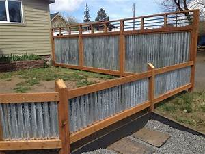 Corrugated metal fence panels could help protect the pets for What kind of paint to use on kitchen cabinets for wire bird wall art