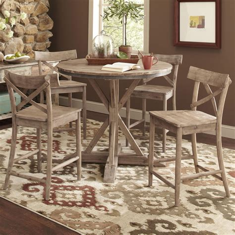 largo callista rustic casual counter height dining table