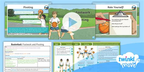 * New * Twinkl Move Pe  Y5 Basketball Lesson 3  Footwork And