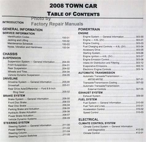 free auto repair manuals 1986 lincoln town car windshield wipe control 2008 lincoln town car factory service manual original ford shop repair factory repair manuals