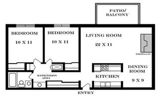 2 bedroom floor plan apartments meadowbrook 2601 dover square