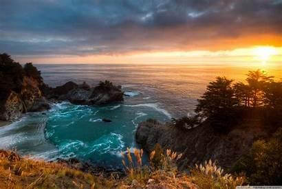 California Sunset Mcway Falls 4k Wallpapers Tablet