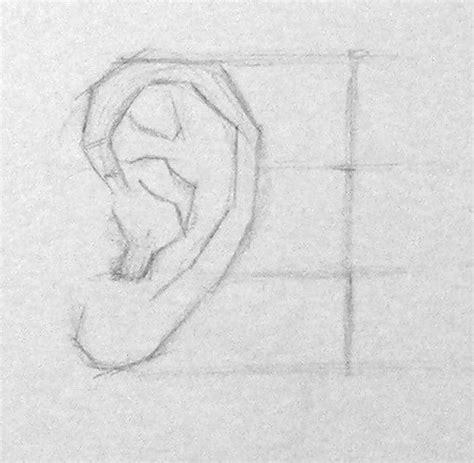 principes pour apprendre  dessiner une oreille