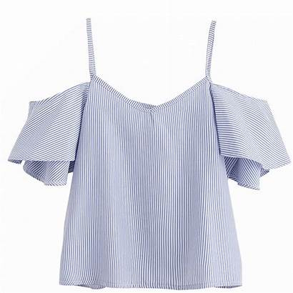 Summer Ladies Shoulder Tops Shirts Blouses Short