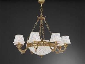 Kronleuchter Mit Lampenschirm : kronleuchter aus goldenen messing mit lampenschirm 11 flammig reccagni store ~ Markanthonyermac.com Haus und Dekorationen