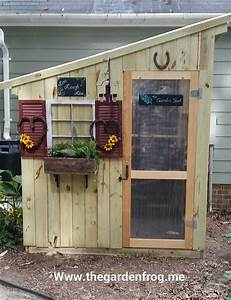 Hometalk DIY Garden Shed from Picket Fence