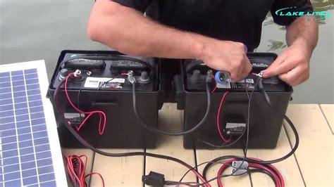 lake lite  boat lift solar system wiring instructions youtube