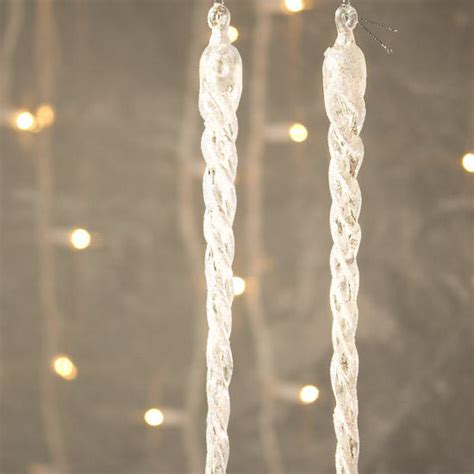 large iridescent icicle ornaments christmas ornaments
