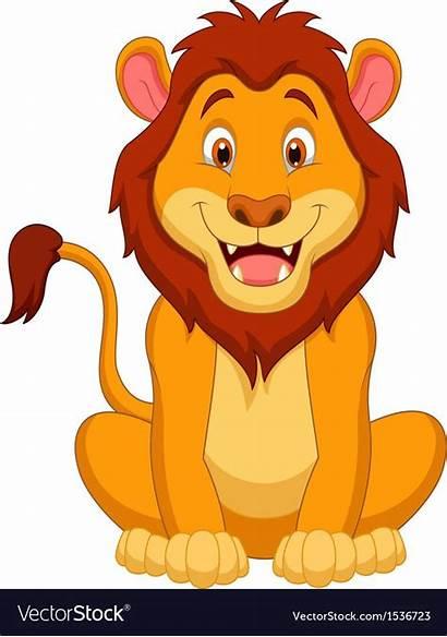 Lion Cartoon Vector Vectorstock Easy Clipart Animal