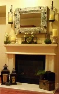 excellent rustic mantel decoration ideas 17 Best ideas about Rustic Mantle Decor on Pinterest | Brick fireplace decor, Rustic fireplace ...