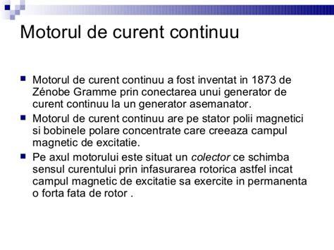 Motorul Electric De Curent Continuu by Motorul Electric
