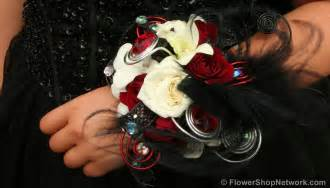 corsage and boutonniere for homecoming prom inspiration funky style