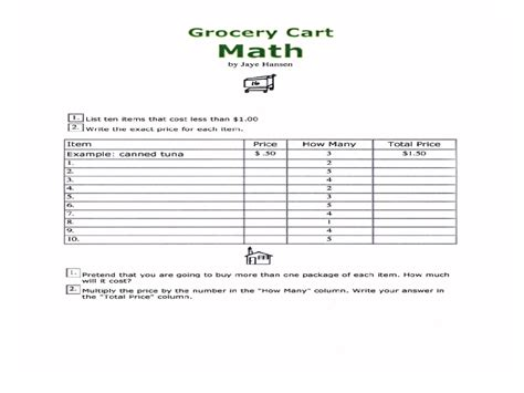 Exercises Consumer Math Worksheet Wwwcreatoriztcom Worksheets For Kids & Free Printables
