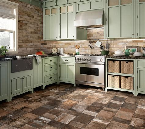 tiles styles for kitchen porcelain stoneware floors in kitchen country style 6234
