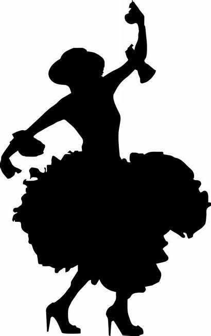 Silhouette Flamenco Clipart Svg Princess Shoe Dance