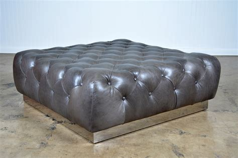 tufted leather ottoman coffee table tufted leather coffee table ottoman mecox gardens