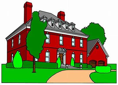 Clipart Mansion Houses Drawing Rumah Cliparts Clipground