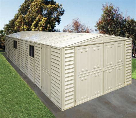 Garage Storage Shed by Duramax Sheds 10 5 X23 Vinyl Storage Garage W Foundation