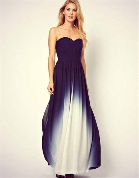 Dress: ombre, maxi dress, navy, ombre dress, long prom