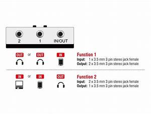 Switch Audio Jack Stereo 3 5mm Manual Bidirectional