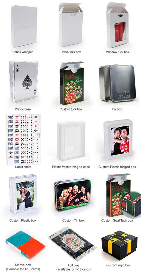 custom plastic poker cards