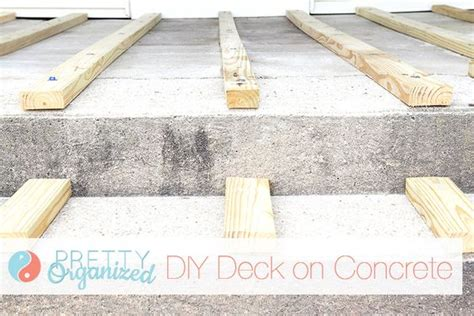 diy building a deck on concrete will need if we