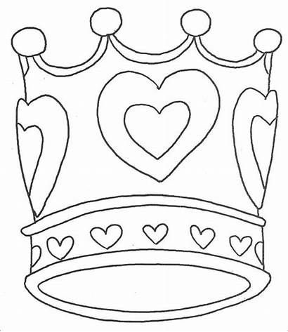 Crown Coloring Queen Princess Pages Template King