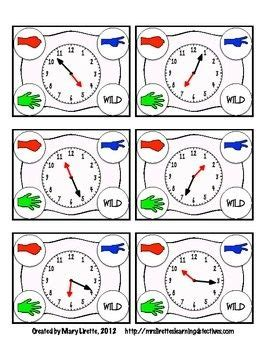 rock paper scissors telling time   nearest minute