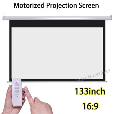 133 inch 16:9 Motorized Screens Best Price For HD