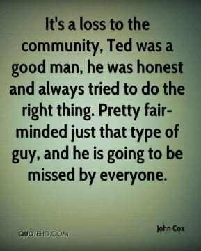 Loss Of A Good Man Quotes